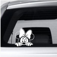Minnie Mouse-Car,Van,Door,Sticker,Sign,Cartoon,Animation,Mickey,PS4,Xbox,PC,TV,Show